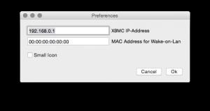 prefs status bar XBMC